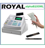 Royal alpha8100ML Electronic Cash Register 200 Departments 3000 Price Look-up...