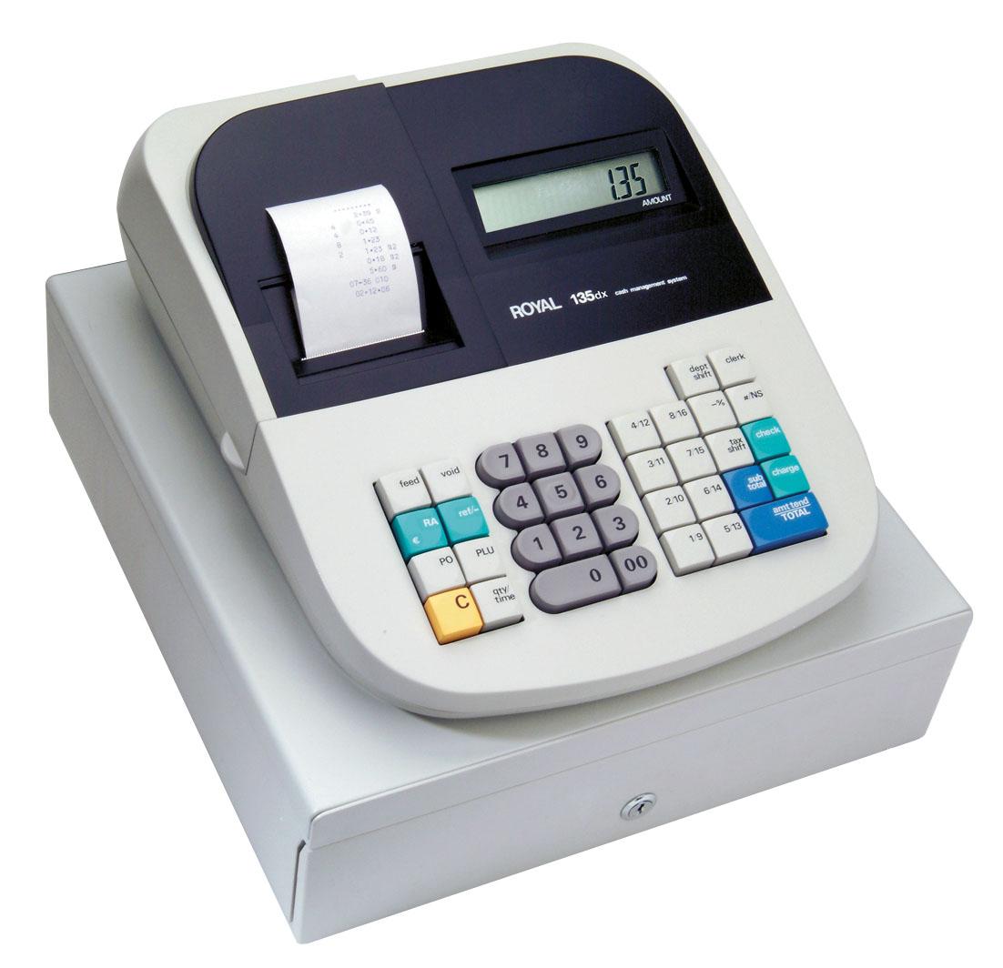 royal 135dx cash register free shipping cash registers. Black Bedroom Furniture Sets. Home Design Ideas