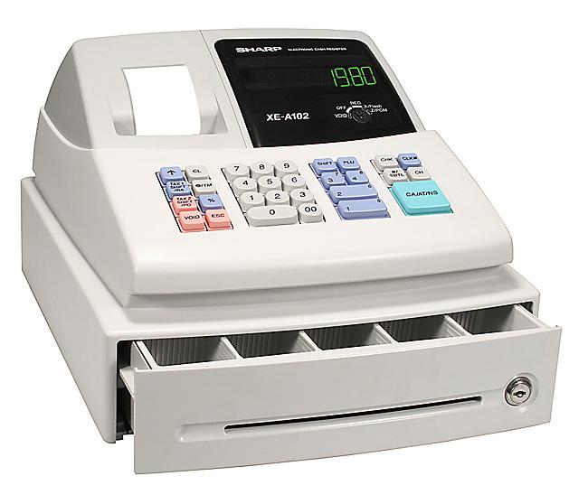 sharp xe a102 cash register free shipping cash registers rh shopcashregisters com Mechanical Cash Register Cash Register On Change