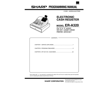 instruction manual for sharp xe a106 cash register